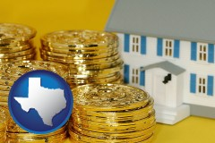 texas map icon and a real estate investment